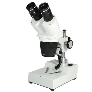10X/30X Widefield Stereo Microscope, Binocular, Post Stand, LED Top Light (360° Rotatable Head)