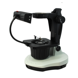 Jewelry Gem Microscope Stand, 76mm Focus Rack, Top and Bottom Light, Fluorescent and Halogen