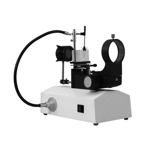 Horizontal Jewelry Gem Microscope Stand, Oil Immersion, 76mm Focusing Rack, Dual LED Light