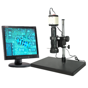 0.35X-2.25X LED Industrial Inspection Video Zoom Microscope, Post Stand + VGA Digital Camera
