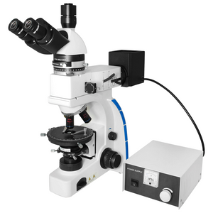40X-1000X Polarizing Microscope, Trinocular, Dual Halogen Light, Bright Field, for Geology, Petrology, Laboratories