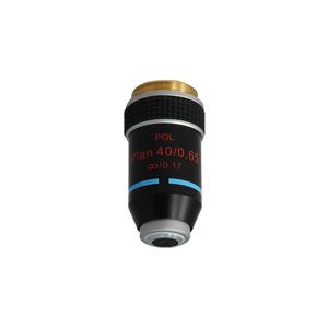 BoliOptics 10X Plan Achromatic POL Polarizing Microscope Objective Lens Working Distance 1.5mm with Black Finish PL05073331