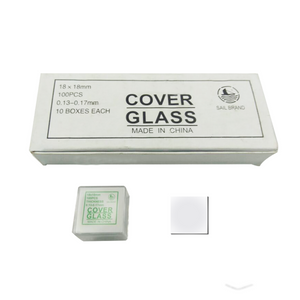 1,000 Glass Cover Slips (18x18mm Square) for Microscope Slides SL39201001