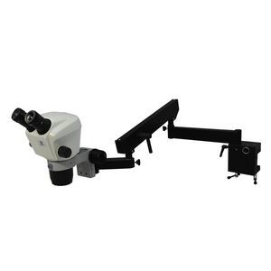 7X-45X Widefield Zoom Stereo Microscope, Binocular, Flexible Articulating Arm Table Clamp (Adjustable Eyepiece)