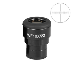 WF 10X Widefield Focusable Microscope Eyepiece with Reticle, X-Axis Crosshair, High Eyepoint, 30mm, FOV 22mm, Adjustable Diopter (One)