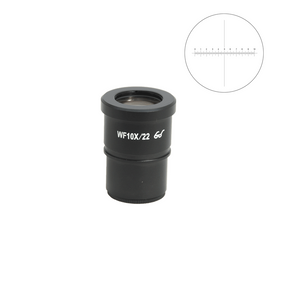 WF 10X Widefield Microscope Eyepiece with Reticle, X-Axis Crosshair, High Eyepoint, 30mm, FOV 22mm, 10mm/100 Div (One)