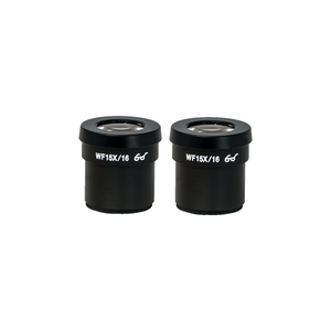 WF 15X Widefield Microscope Eyepieces, High Eyepoint, 30mm, FOV 16mm (Pair)