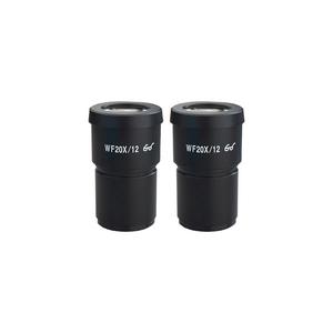 WF 20X Widefield Microscope Eyepieces, High Eyepoint, 30mm, FOV 12mm (Pair)