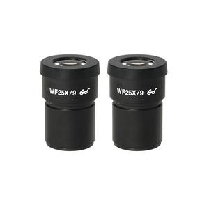 WF 25X Widefield Microscope Eyepieces, High Eyepoint, 30mm, FOV 9mm (Pair)