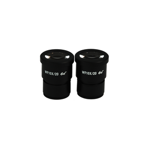 WF 10X Widefield Microscope Eyepieces, High Eyepoint, 30mm, FOV 20mm (Pair)