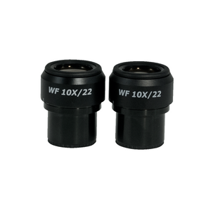 WF 10X Widefield Focusable Microscope Eyepieces, High Eyepoint, 30mm, FOV 22mm, Adjustable Diopter (Pair)