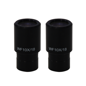 WF 10X Widefield Bausch and Lomb Microscope Eyepieces, High Eyepoint, 23.2mm, FOV 18mm (Pair)