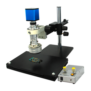0.65-4.5X Industrial Inspection 3D Video Microscope + HDMI Digital Camera, Gliding Stand