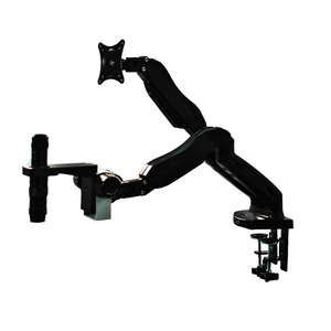 0.35X-2.25X Industrial Inspection Video Zoom Microscope, Pneumatic Arm Clamp Stand + Monitor Holder