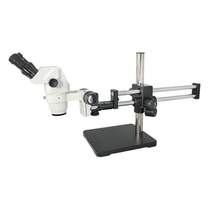 6.5X-45X Super Widefield Zoom Stereo Microscope, Binocular, Double Arm Boom Stand