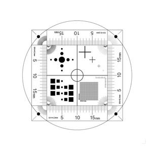 Microscope Stage Calibration Slide (Plastic) Multi-Functional Micrometer (Circle, Cross Line, Square, Net Grid, Angle Measurement)