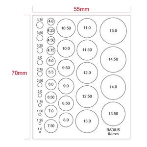 Microscope Stage Micrometer, Calibration Film Ruler, Circle Size Estimation Measurement Chart