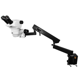 8X-50X Widefield Zoom Stereo Microscope, Binocular, Flexible Articulating Arm Table Clamp