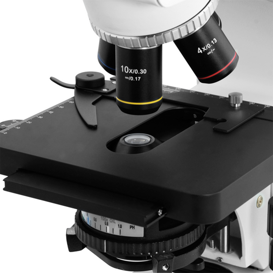 40X-1000X Biological Compound Laboratory Microscope, Binocular, Halogen Light, High Eyepoint Eyepieces