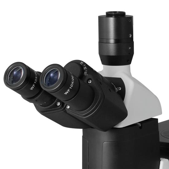 100X-400X Inverted Compound Laboratory Microscope, Trinocular, Halogen Light, Phase Contrast Objective