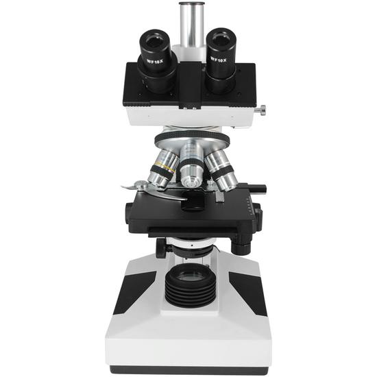 40X-1500X Biological Compound Laboratory Microscope, Trinocular, Halogen Light, XY Stage