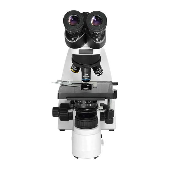 40X-1000X Biological Compound Laboratory Microscope, Trinocular, Halogen Light, Adjustable Eyepieces