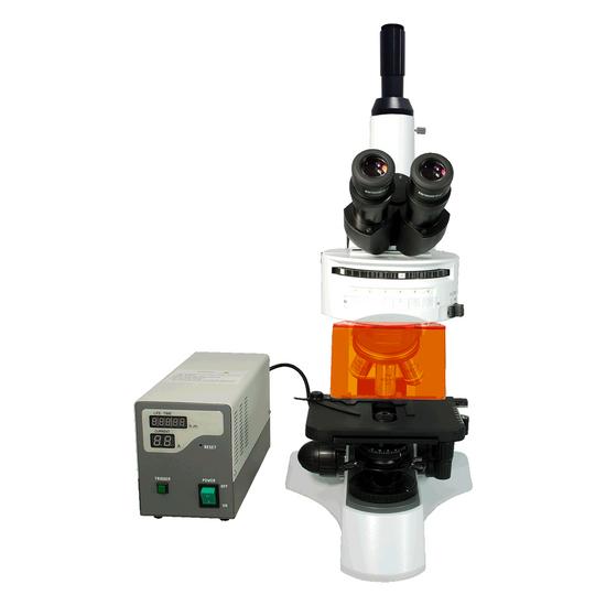 40X-1000X Fluorescence Microscope, Trinocular, Dual Light MH + 0.45X Video Camera Coupler Adapter