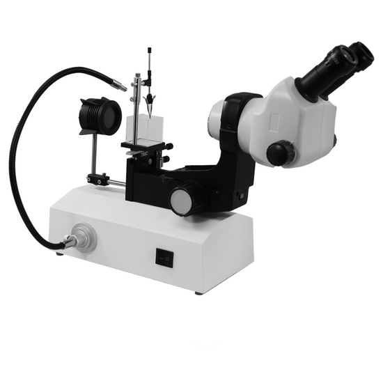 8X-50X Professional Jewelry Gem Stereo Zoom Microscope, LED Light, Horizontal Oil-Immersed Gem Stand