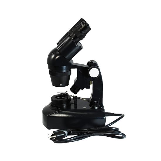 20X/40X Jewelry Gem Stereo Microscope, Binocular, Halogen Light, Track Stand + Dark Field Condenser