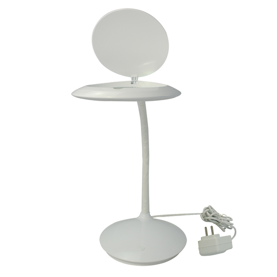 SMD LED Desktop Magnifying Lamp 5 Diopter, Adjustable Metal Gooseneck for Technicians, Cell Phone, Watch Repairs