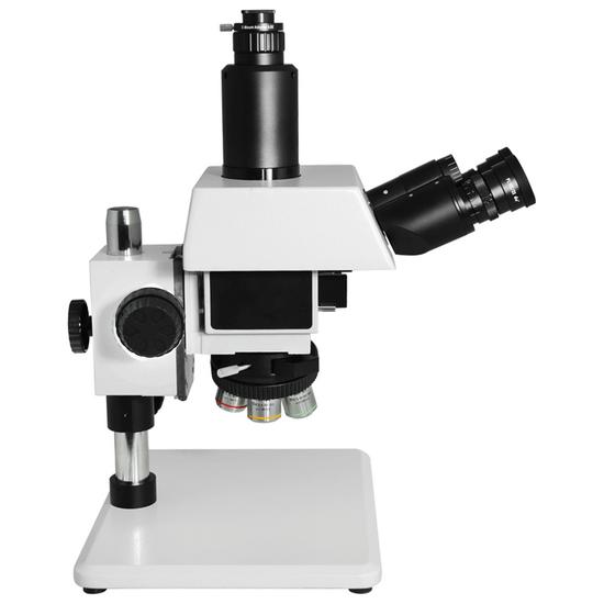 50X-500X Metallurgical Microscope, Trinocular, Halogen Fiber Optic Illuminator, Bright Field Dark Field + Polarizing Kit