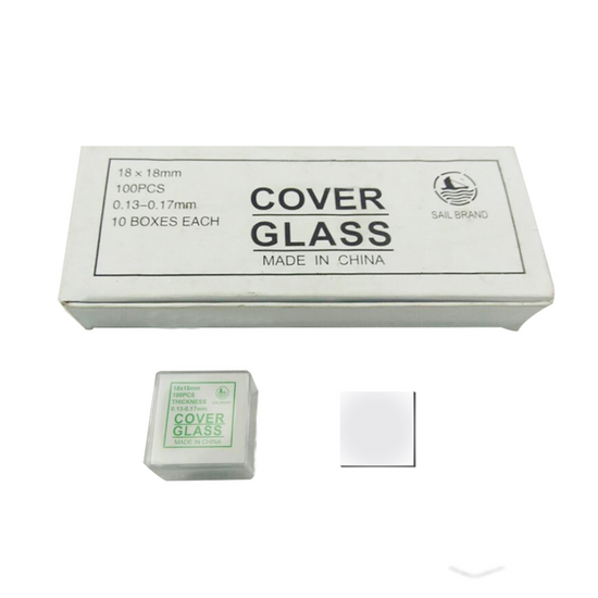 MUHWA Microscope Glass Cover Pre-Cleaned 24mm x 32mm Coverslips 100 Pieces//Box