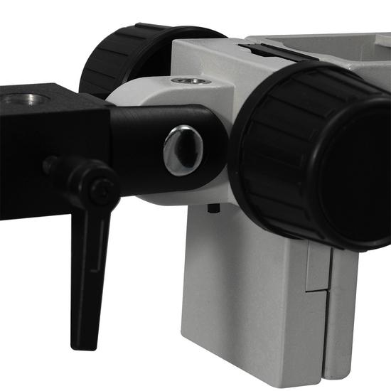 7X-45X Widefield Zoom Stereo Microscope, Binocular, Flexible Articulating Arm Table Clamp (Adjustable Eyepiece)