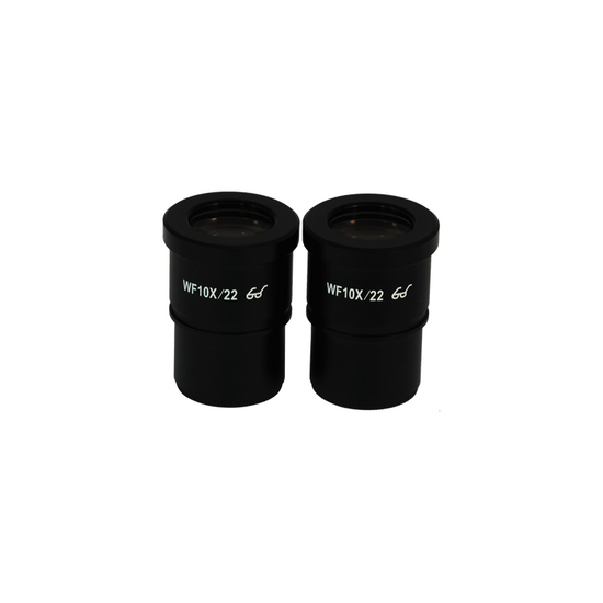 WF 10X Widefield Microscope Eyepieces, High Eyepoint, 30mm, FOV 22mm, Reticle Mount (Pair)
