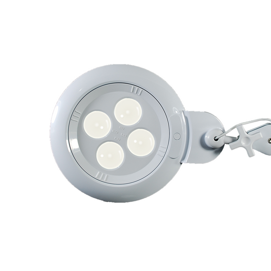 SMD LED Magnifying Lamp with Clamp, 4 in 1 Multi-Lens, 8/10/12/15 Diopter