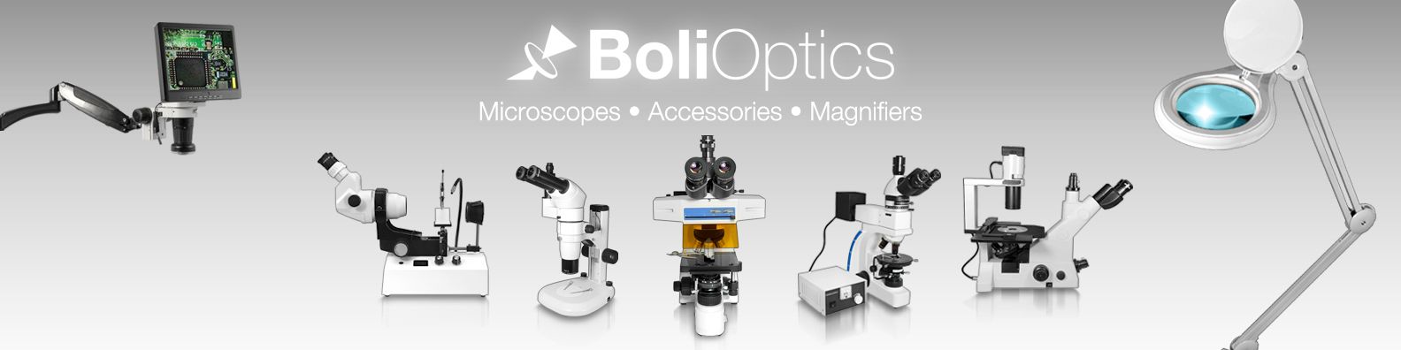 Boli Optics Microscopes, Microscope Accessories and Magnifying Lamps