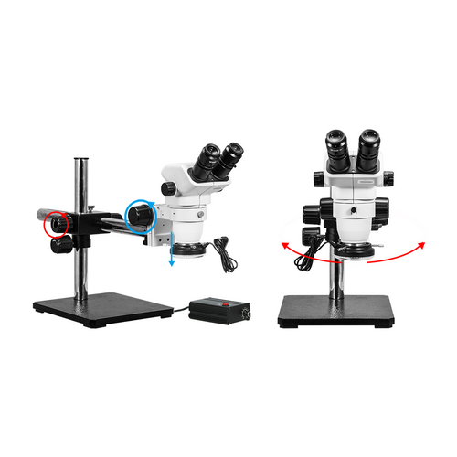 W-SHTAO Microscope Binocular Microscope with LED lamp high Magnification Magnifier LED Lighting Double Tube Microscope with Scale Color : Gold, Magnification : 150X