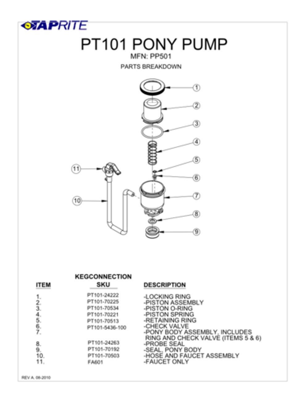 pony pump parts