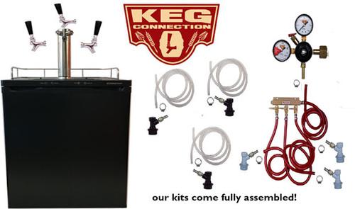 3 Faucet Edgestar Kegerator with Digital Display