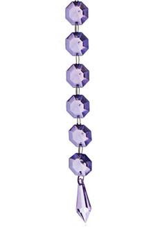 BEAD08PR Crystal Bead Chain - Purple (12pcs)
