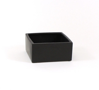 "CBC0804BK Black Low Square Block - 8""x8""x4"", Case Pack: 6 pcs"