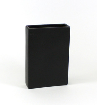 "CBR8312BK - Black Tall Flat Rectangle - 8""x2.5""x12"" (6 pcs)"
