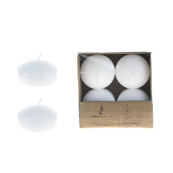 "CGA063-W 2"" Floating Disc Candles - White (4 pcs/box)"