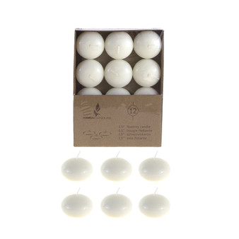 "CGA077-I 1.5"" Floating Candles - Ivory (12 pcs/box)"