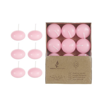 "CGA077-P 1.5"" Floating Candles - Pink (12 pcs/box)"