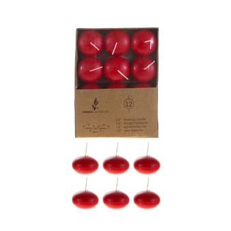 "CGA077-R 1.5"" Floating Candles - Red (12 pcs/box)"