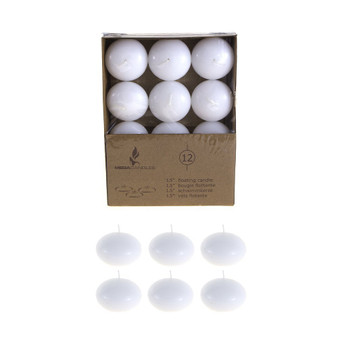 "CGA077-W 1.5"" Floating Candles - White (12 pcs/box)"