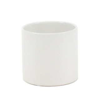 "CYL6506WT - White Cylinder Ceramic - 6.5""x6"" (12 pcs)"