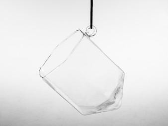 """GET8001 Hexagonal Frameless Geometric Glass Terrarium - 6"""" H (6 pcs)"""