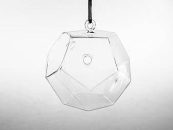 "GET8003 Dodecahedron Frameless Geometric Glass Terrarium - 4.72"" H (6 pcs)"